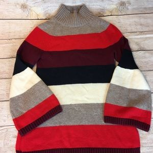 Ann Taylor 5 color block Bell Sleeve Sweater